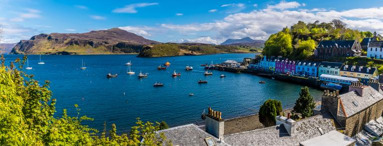 View over Portree Harbour - Nicola Pulham, via Shutterstock