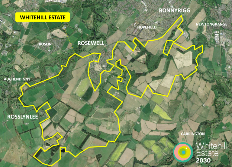 Map of the Whitehill Estate