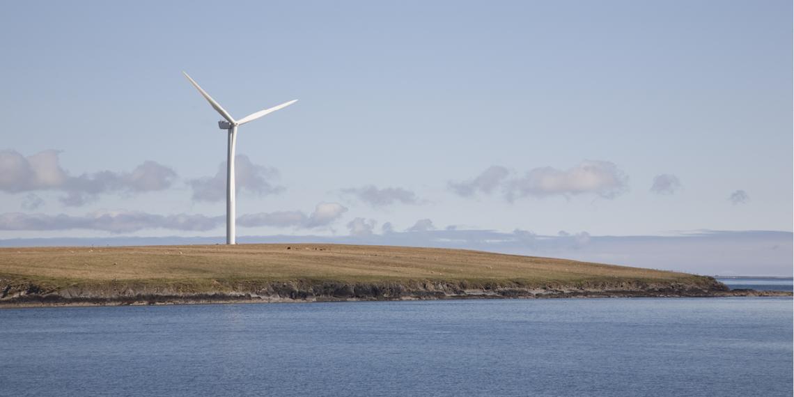 A wind turbine in Orkney