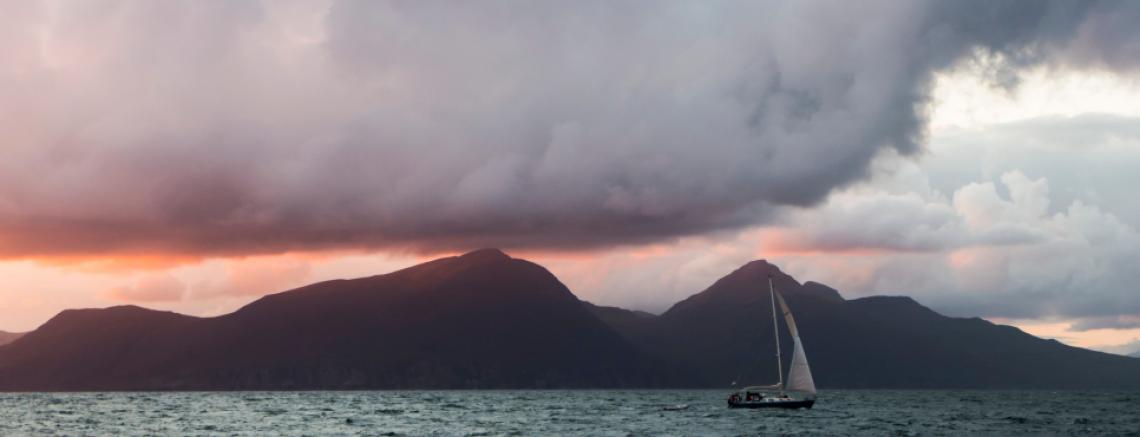 Yacht near Isle of Eigg