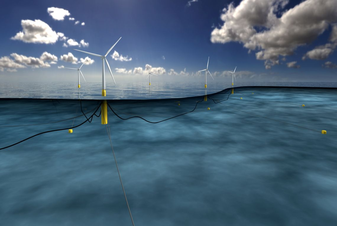 Hywind wind farm illustration