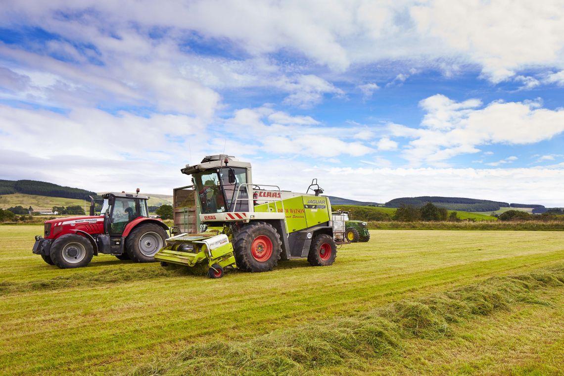 Applegirth Estate; tractor; farming