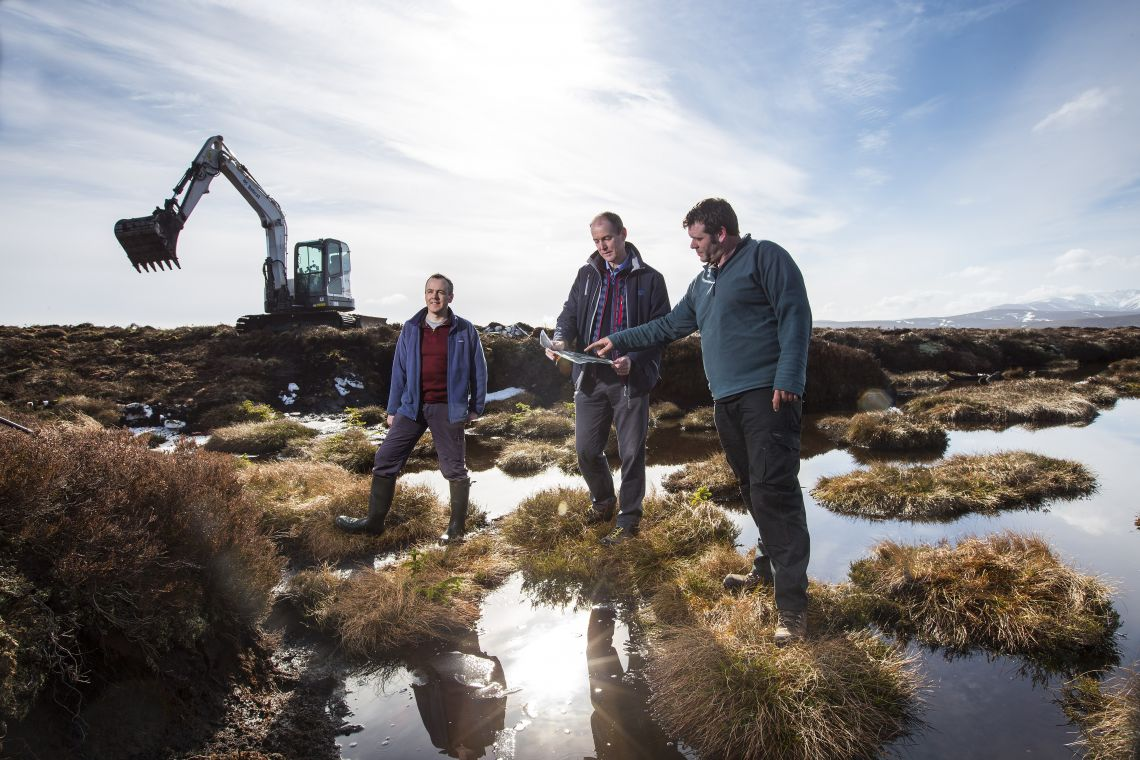 Glenmullie peatland restoration project at Glenlivet Estate